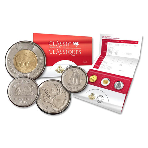 2017 6 Coin Classic Canadian Coin Set