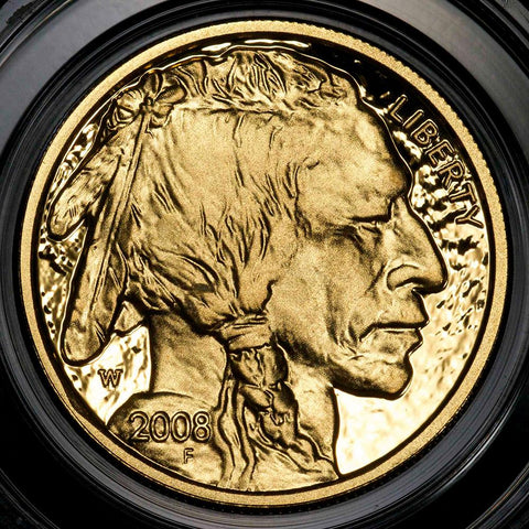 2008-W Proof $5 .9999 Gold Buffalo in OGP ~ Scarce Low Mintage Issue