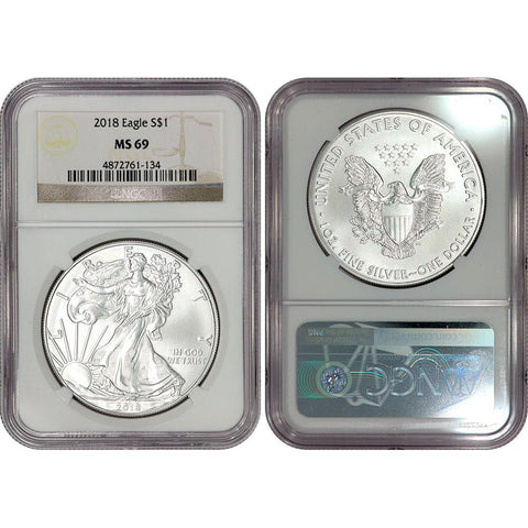 2018 American Silver Eagle - NGC MS 69