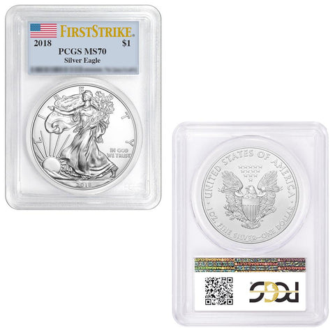 2018 $1 Silver Eagle - PCGS MS 70 First Strike