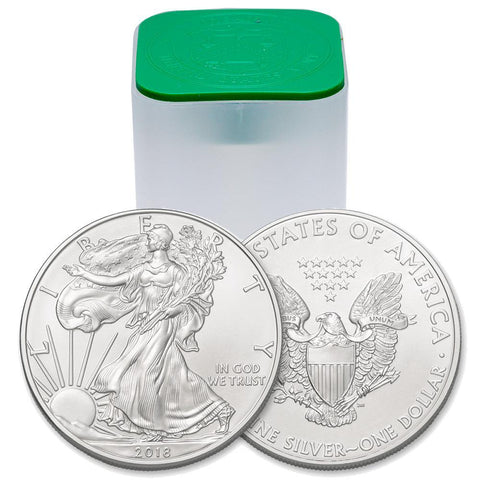 2018 American Silver Eagles, Original Mint Roll of 20 Coins