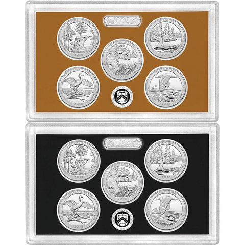 2018-S Clad or Silver Proof 5-Coin National Park Quarter Sets in Plastic