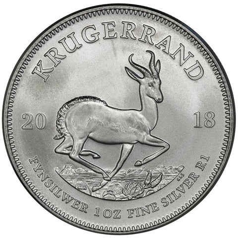 2018 South Africa 1 oz Silver Krugerrand Coin - Gem Uncirculated