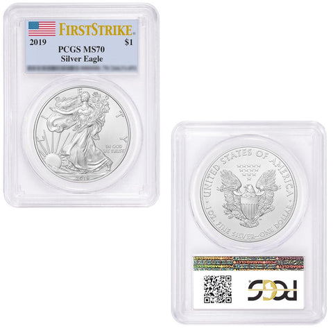 2019 $1 Silver Eagle - PCGS MS 70 First Strike