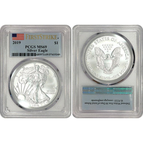 2019 American Silver Eagle - PCGS MS 69 First Strike