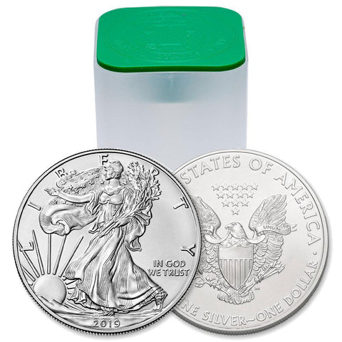 2019 American Silver Eagles, Original Mint Roll of 20 Coins