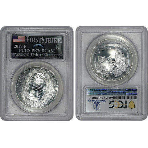 2019-P Apollo 11 50th Anniversary Proof Silver Dollar - PCGS PR 70 DCAM First Strike
