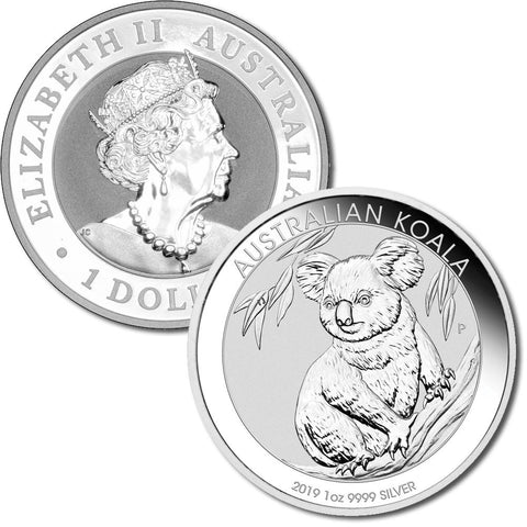 2019 Australia Silver Koala 1 oz .999 Silver - Gem Brilliant Uncirculated (In Capsule)