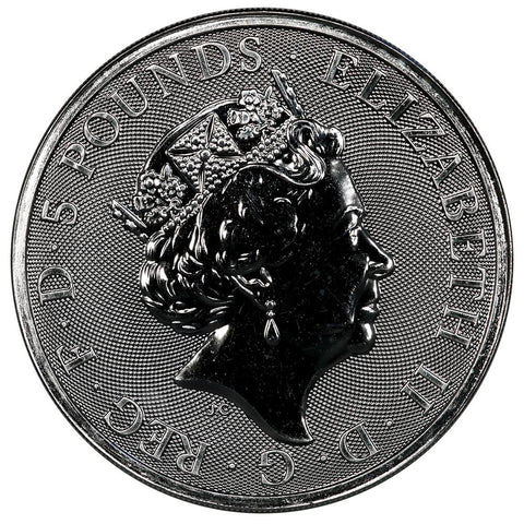 2019 Great Britain 2 oz Silver Queen's Beasts – The Falcon of the Plantagenets - PQ BU