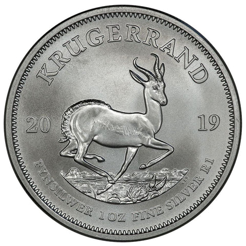 2019 South Africa 1 oz Silver Krugerrand Coin - Gem Uncirculated