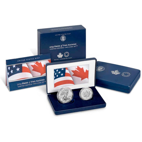 2019 Pride of Two Nations Silver Eagle & Maple Leaf - Gem Proof in OGP