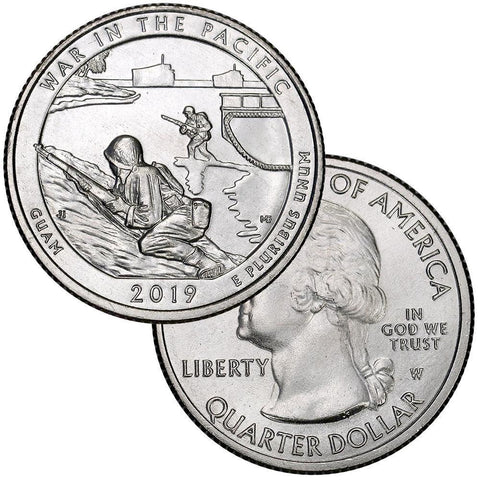 2019-W War In The Pacific, Guam National Park Quarter - Uncirculated