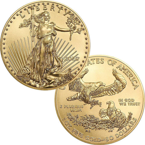2020 $50 American Gold Eagle - 1 oz Net Pure Gold - Gem Uncirculated