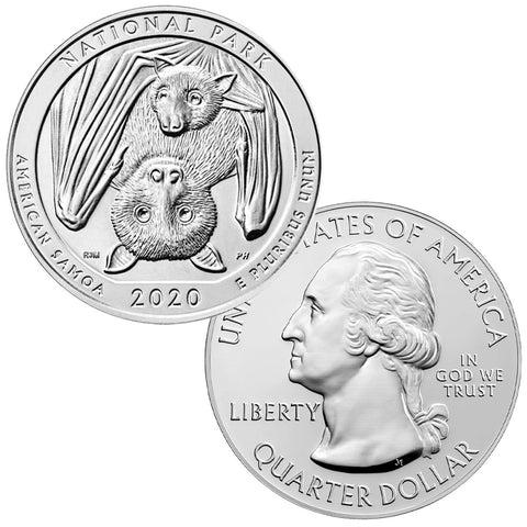2020 American Samoa America The Beautiful 5 oz Silver Quarter - Gem Uncirculated