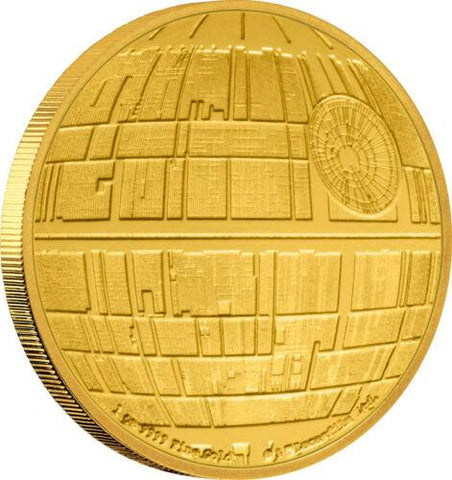 Officially Licensed 2020 $250 Star Wars Death Star 1 oz .9999 Gold Coin in OGP w/ COA