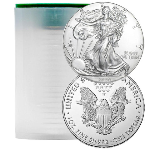 2020 American Silver Eagle Mint Roll of 20 - Crisp Original Rolls Back In Stock
