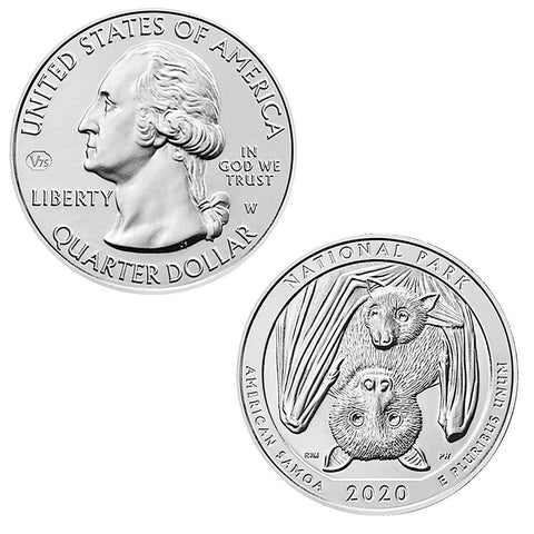 2020-W American Samoa National Park Quarter - Fresh From Mint Boxes Uncirculated