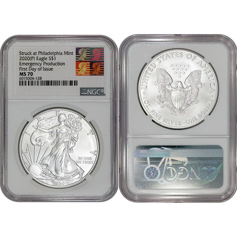 2020(P) Emergency Issue American Silver Eagle - NGC MS 70 FDOI