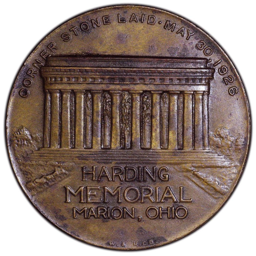 Warren G  Harding 1865-1923 Memorial Coin Token Marion, Ohio