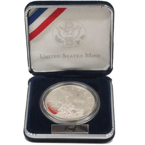 Marine Corps 230th Anniversary Silver Dollar - Gem Proof Silver in OGP w/ COA