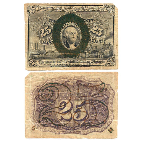 (1863-1867) 2nd Issue 25¢ Fractional Fr. 1284 - Fine