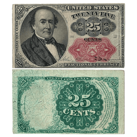 (1874-1876) 5th Issue 25¢ Fractional Fr. 1309 (Short Key) - Choice Very Fine