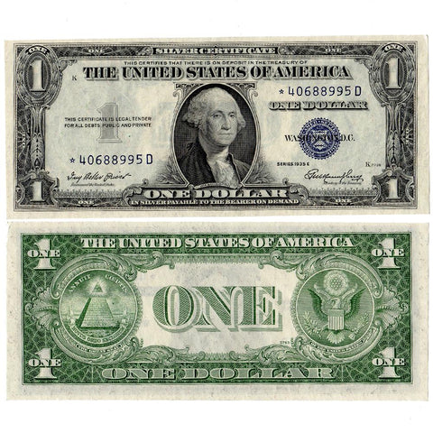 1935 Series $1 Silver Certificate Star Notes - Crisp Uncirculated