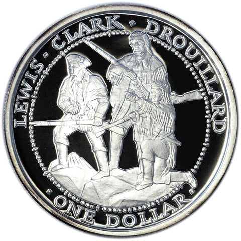 2003 Shawnee Proof Silver Dollar Lewis & Clark Expedition 1 oz .999 Silver Coin w/ C.O.A