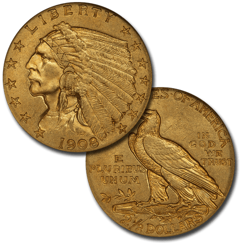 $2.5 Indian Gold Coin Special - Listed By Date/Grade
