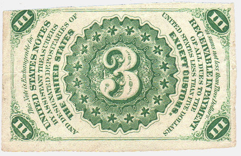 (1864-1869) 3rd Issue 3¢ Fractional Fr. 1226 ~ Choice Very Fine