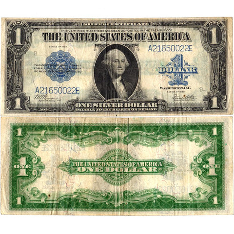 1923 $1 U.S. Large Size Silver Certificates Fr. 238 - Very Fine