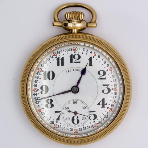 1921 Illinois Bunn Special Railroad Pocket Watch - 23 Jewel, Model 11, Size 16s (Gorgeous!)