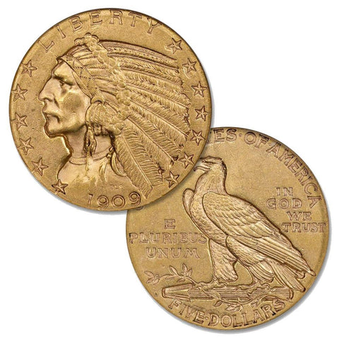 $5 Indian Gold Coin Special - PQ Brilliant Uncirculated