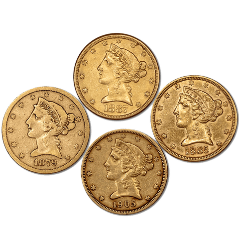 $5 Liberty Gold Coin Special - F/VF, XF/AU & PQ BU Coins - Dates of Our Choice
