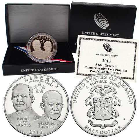 2013 5-Star Generals Commemorative Half Dollar in OGP w/ COA