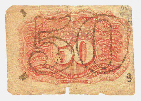 (1863-1867) 2nd Issue 50¢ Fractional Fr. 1318 ~ Very Good (margin chips)