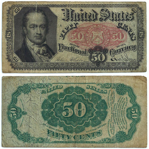 (1874-1876) 5th Issue 50¢ Fractional Fr. 1380 - Fine