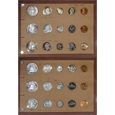 1953 - 1954 - 1955 Proof Sets in old Wayte Raymond Multiset Holder - Gem Proof