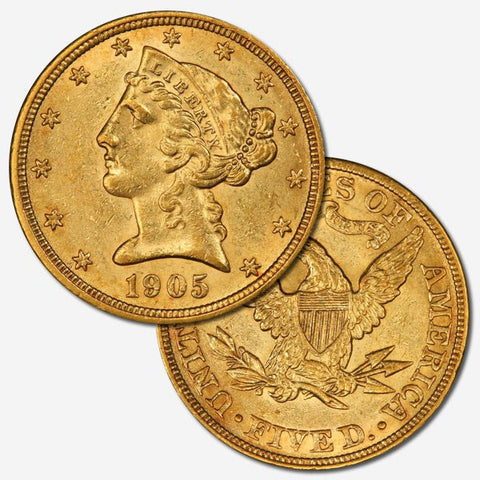 Daily Deal - 2015-03-17 - About Uncirculated $5 Liberty Gold Coins