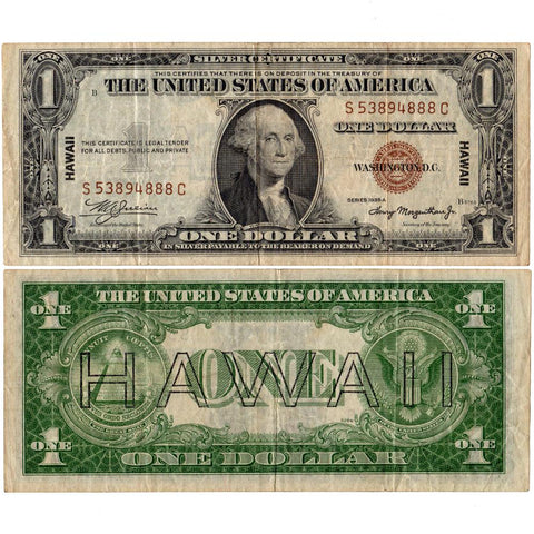 1935-A $1 Hawaii Emergency Issue Silver Certificate, FR. 2300 SC Block - Very Fine