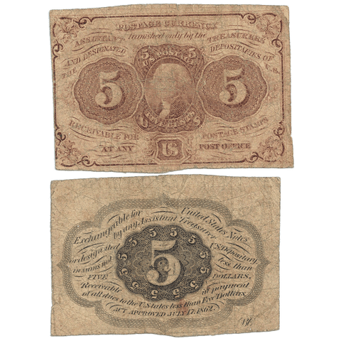 (1862-1863) 1st Issue 5¢ Fractional Fr. 1230 ~ Very Good