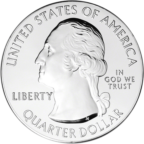 2013 White Mountain America The Beautiful 5 oz Silver Quarter - Gem Uncirculated