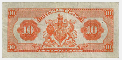 1935 $10 Royal Bank of Canada Dobson | Wilson, Charlton 630-18-04 ~ Very Fine