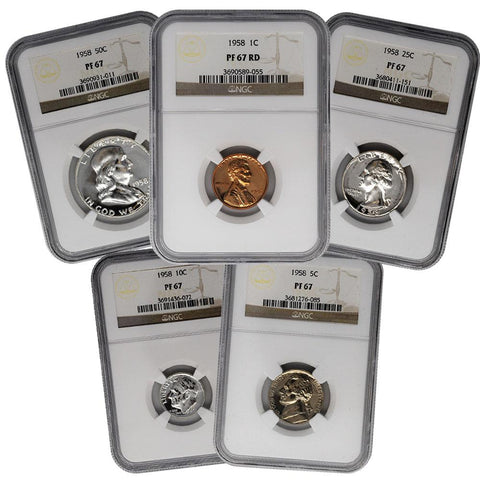 1958 Certified Flat Pack Proof Set - NGC PF67