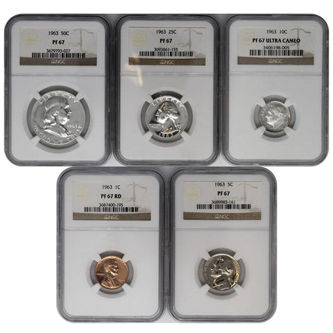 1963 Certified Flat Pack Proof Set - NGC PF67