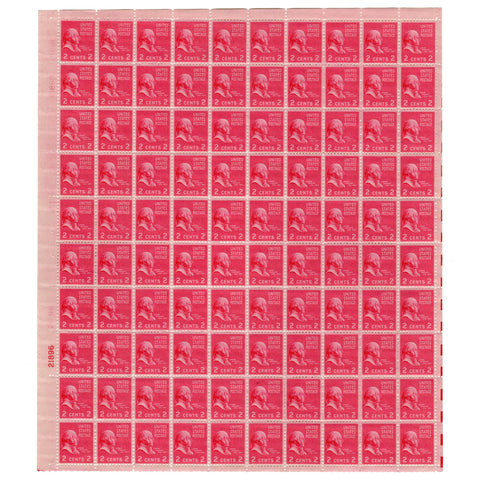 1938 2 Cent  Scott# 806 John Adams Stamp Sheet