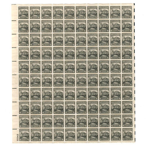 1938 4-1/2 Cent  Scott# 809 The White House Stamp Sheet
