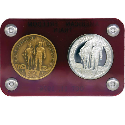 1776-1976 Bicentennial Journey American Freedom Train Silver/Bronze Coin Set