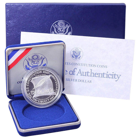 1987-S Constitution Commemorative Silver Dollar - O.G.P. & C.O.A.