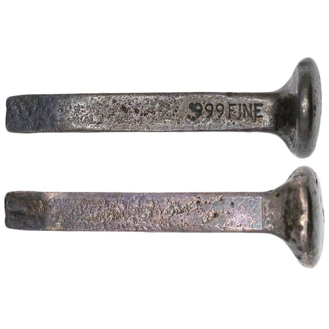 .999 Silver Railroad Spike - 1.673 toz - 64mm Length (#1)